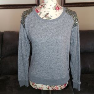Maison Scotch Chapeau 1 Shirt Top Sweatshirt Gray